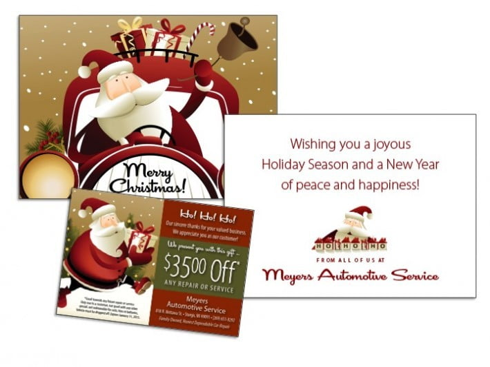 Note Card Mailer Samples Wilson Printing USA – Christmas Cards Sample