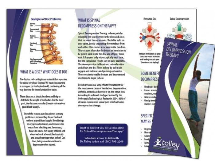 Brochures wilson printing usa wilson printing usa for Chiropractic brochures template