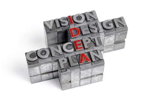 Idea as an acronym with the words Vision Design Concept and Plan