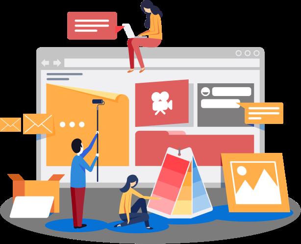 websites vector graphic