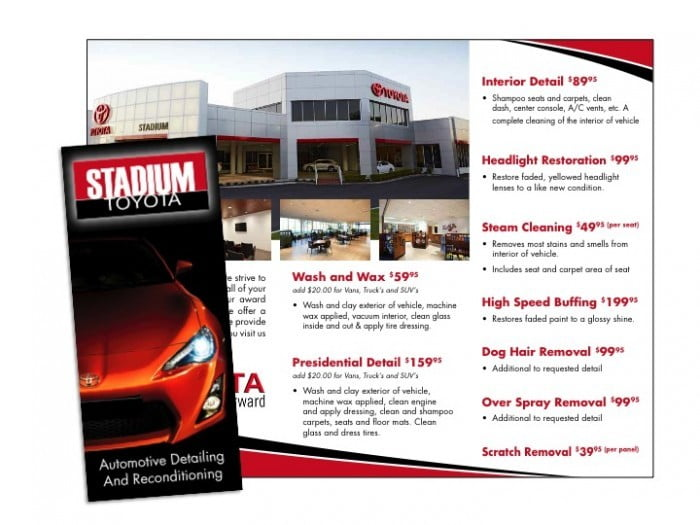 auto repair brochure samples marketing wilson printing. Black Bedroom Furniture Sets. Home Design Ideas