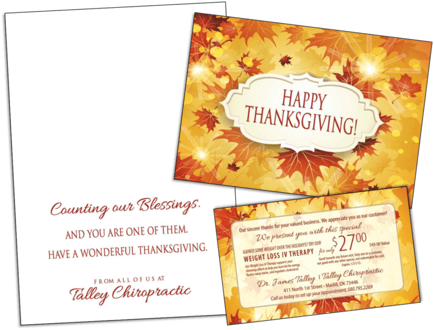 Thanksgiving Card Sample2 - Wilson Printing USA | Wilson Printing USA