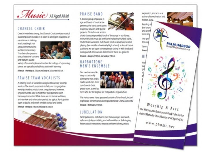 church brochure samples