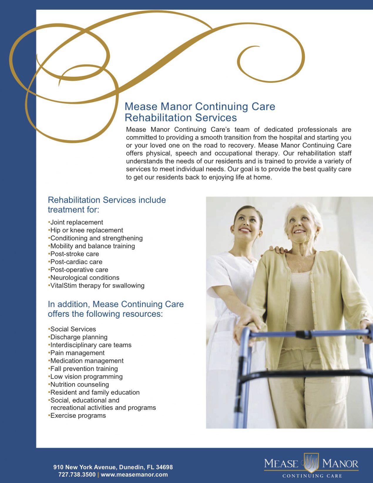 assisted living retirement community flyer samples wilson