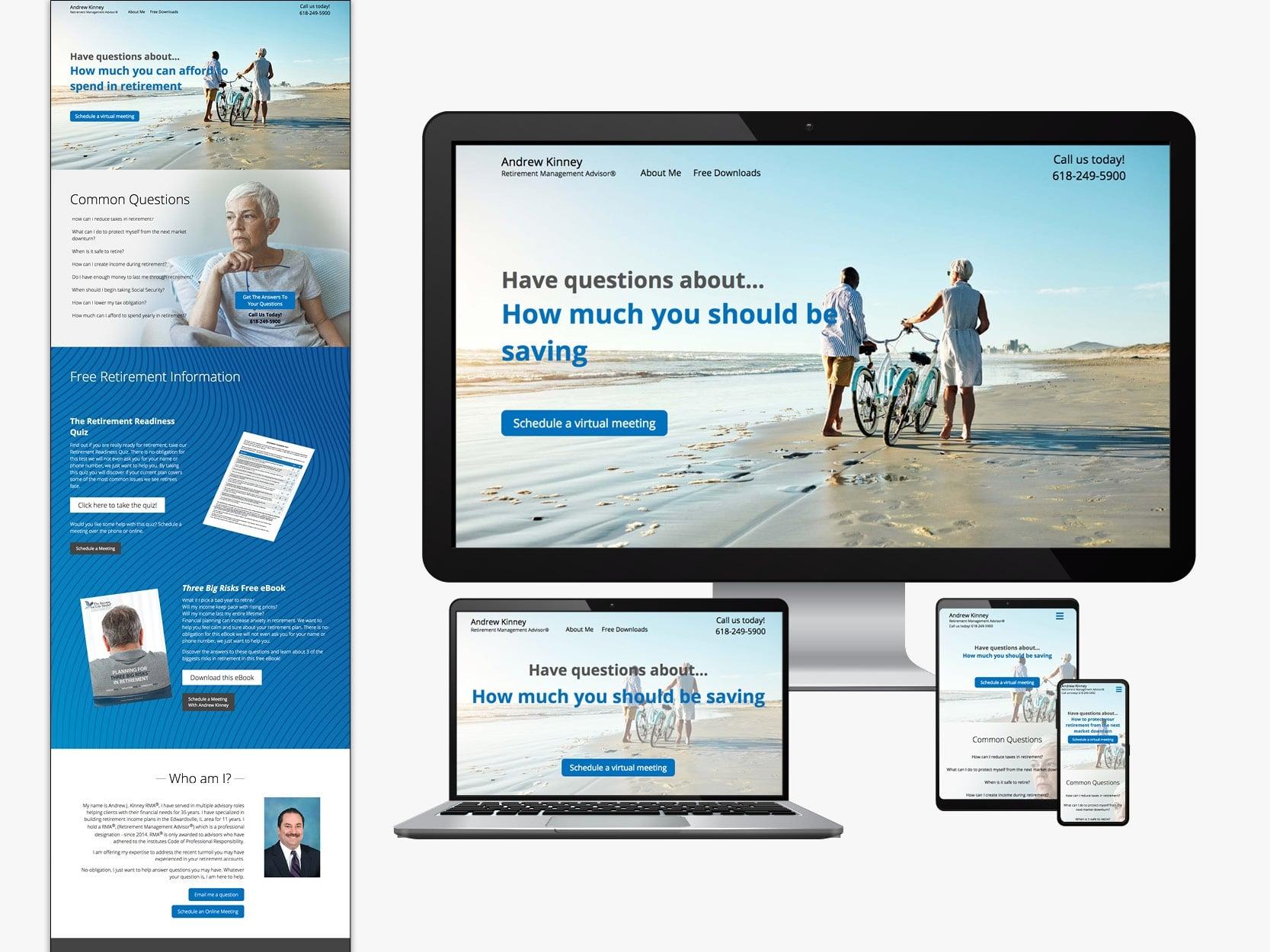 Financial advisor website sample