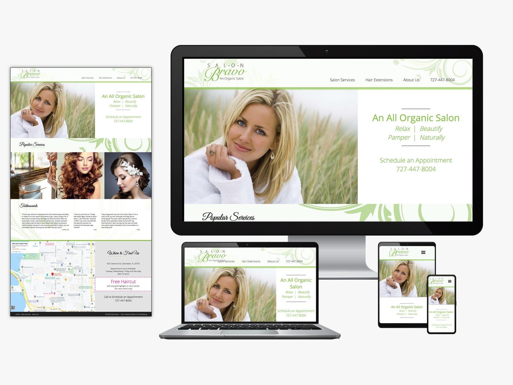 Salon website sample